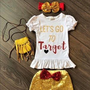 Other - Toddler Girl Outfit Set Lets Go To Target